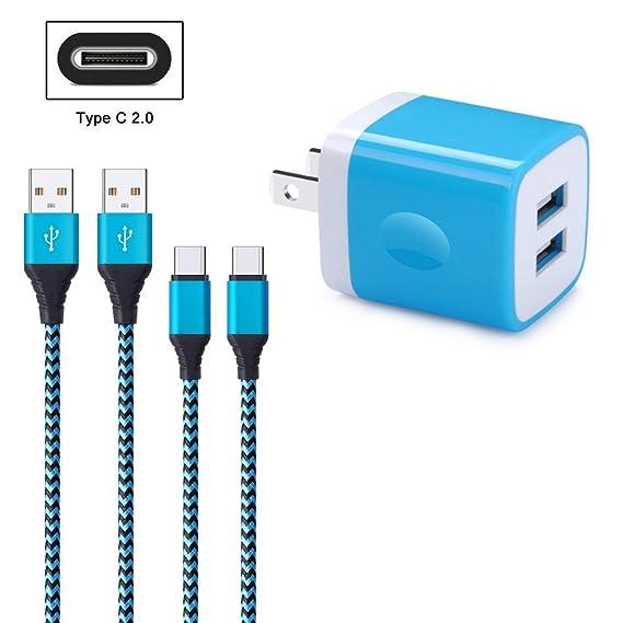 Amazon.com: FiveBox 2.1A Dual Port USB Wall Charger Box Charging ...