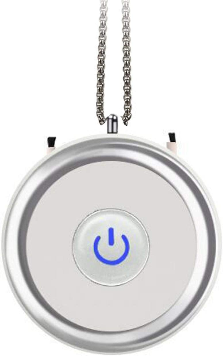 Life Time About 48 Hours with Full Charged. SMALLBABOON 21.65 x 6.29 Personal Wearable Necklace Air Purifier Mini Portable USB Charging Negative Ion Generator Low Noise A