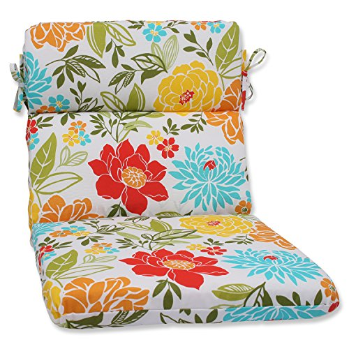 Pillow Perfect Outdoor Spring Bling Rounded Corners Chair Cushion, Multicolored
