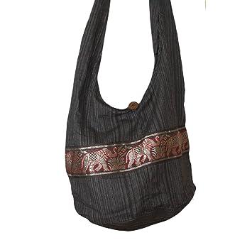 Amazon.com: Tonka Cotton Shoulder Bag Cotton Gold Elephant Print ...