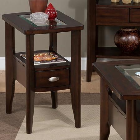 Jofran Montego Chairside Table – Montego Merlot