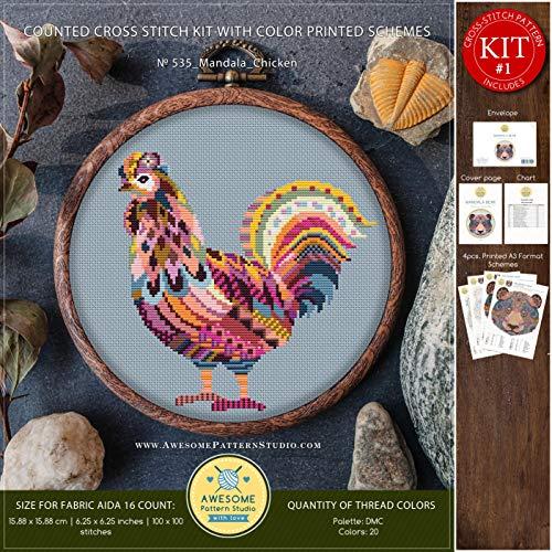 5 Cross Stitch Kit | Funny Animals Cross Stitch Kits | Cross Stitch World | Needlepoint Kits | Embroidery Designs | Stitch Patterns ()
