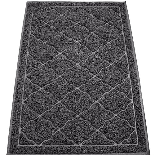 [KW Pets Non-Toxic Cat Litter Mat, Extra Large (35 x 23-Inch), Slate Gray] (Sticky Proud Family Costume)