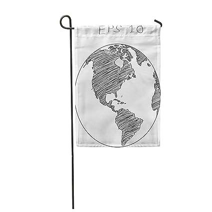 Amazon.com: Semtomn - Bandera de jardín con dibujos animados ...