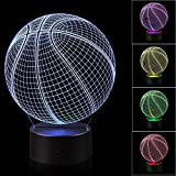 Best Night Light With Double Touches - 3D Illusion Basketball Night Light Lamp with 7 Review