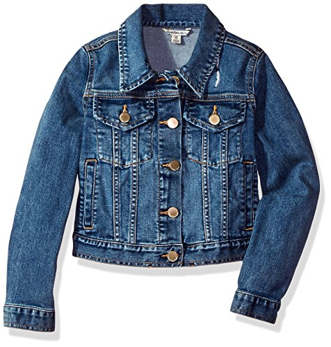 Calvin Klein Girls' Little Denim Jacket, Authentic, 5
