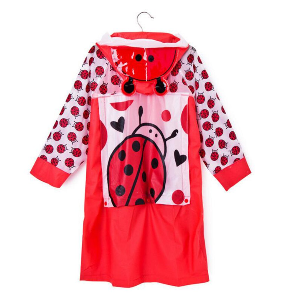 100-110 M Juleya Bambini Spesso Gonfiabile Impermeabile del Fumetto con la Cartella Luogo Bambini Poncho Red Beatles