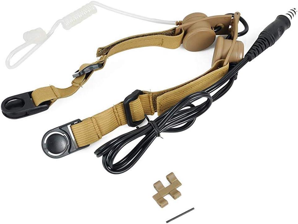 Micr/ófono de garganta Airsoft magic Z033DE Bowman tierra oscura