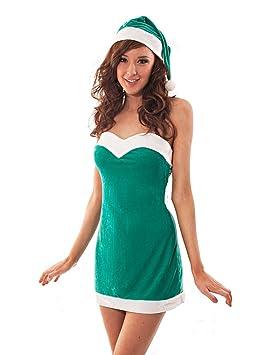 disfraz de elfa elfo mujer santa claus papa noel navidad carnaval halloween - Disfraz De Elfa