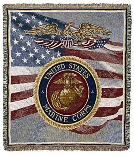 CC Home United States of America Marine Corps Tapestry Af...