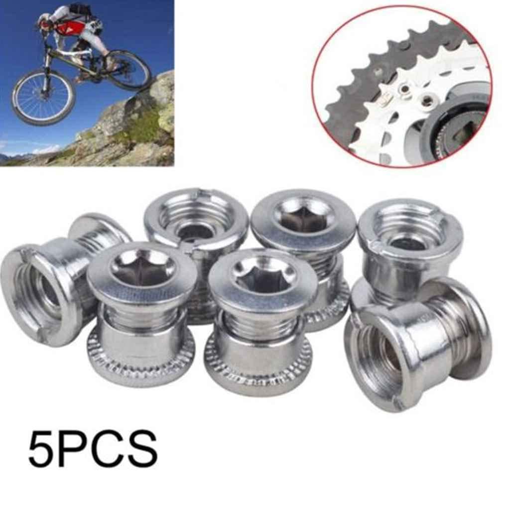 Vkospy 5Pcs Zubeh/ör Fahrrad-Ketten-Radschraube Einzel Kurbeln Kettenblattschrauben