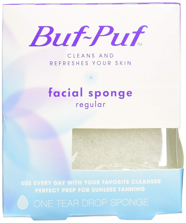 Buf-Puf Facial Sponge (Regular) 1 Unit (Pack of 2): Beauty