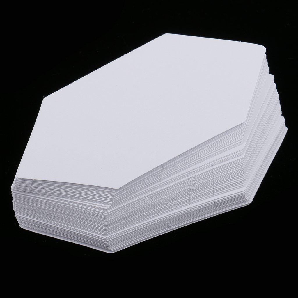 Gazechimp 300pcs Hex/ágono de Papel Acolchado de Plantillas de Remiendo para Arte de Costura