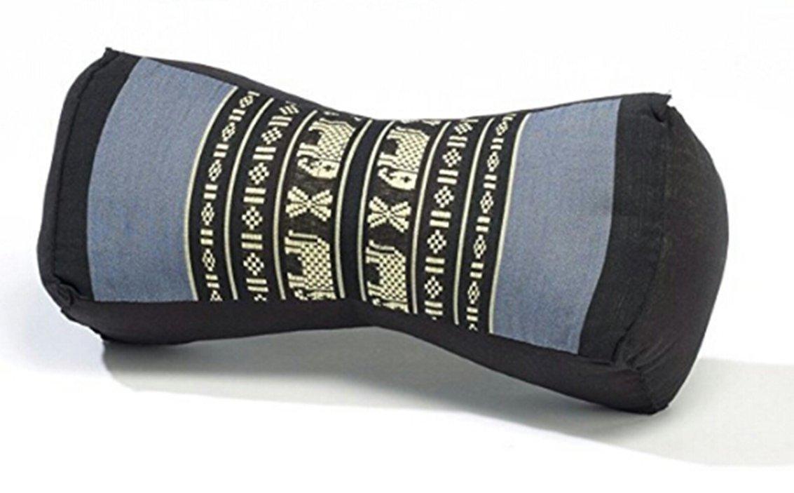 Bone Shaped Yoga Neck Pillow Kapok 100% Filled (Grey)