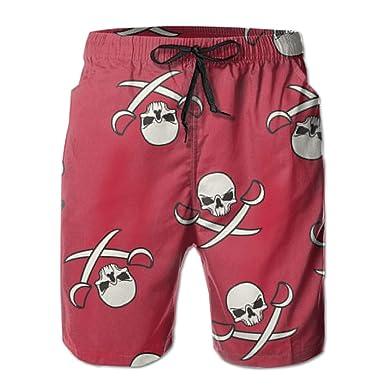 Jngjs Mens 3D Printed Sports Shorts with Mesh Lining Beach Pants