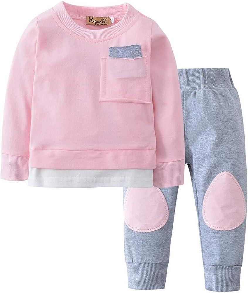 PinkLu Conjunto De Diadema con Mangas Largas Florales OtoñO ReciéN Nacido Infantil Bebé NiñO NiñA Camiseta Tops + Pants 2pcs Trajes Ropa Conjunto: Amazon.es: Ropa y accesorios