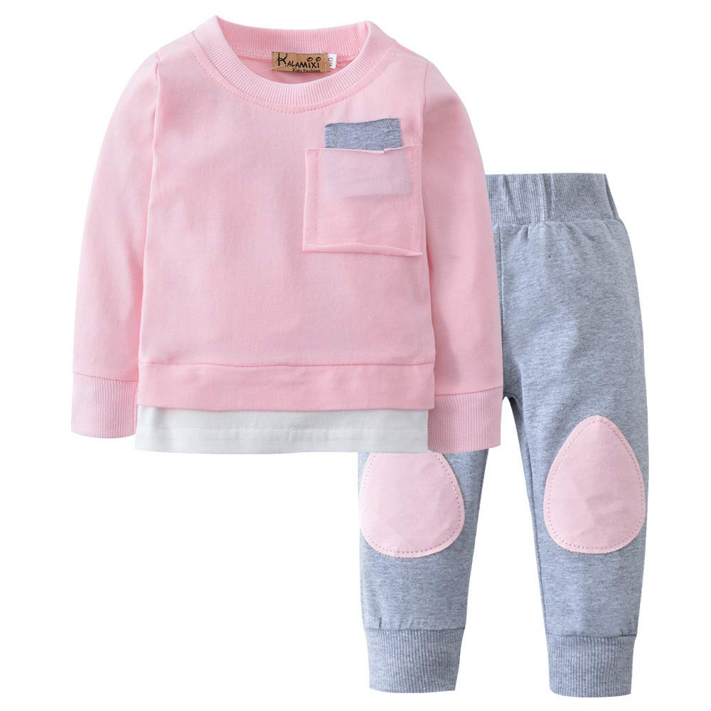 Clearence Autumn Newborn Infant Baby Boy Girl T Shirt Tops+Pants 2PCS Outfits Clothes Set GR20186666