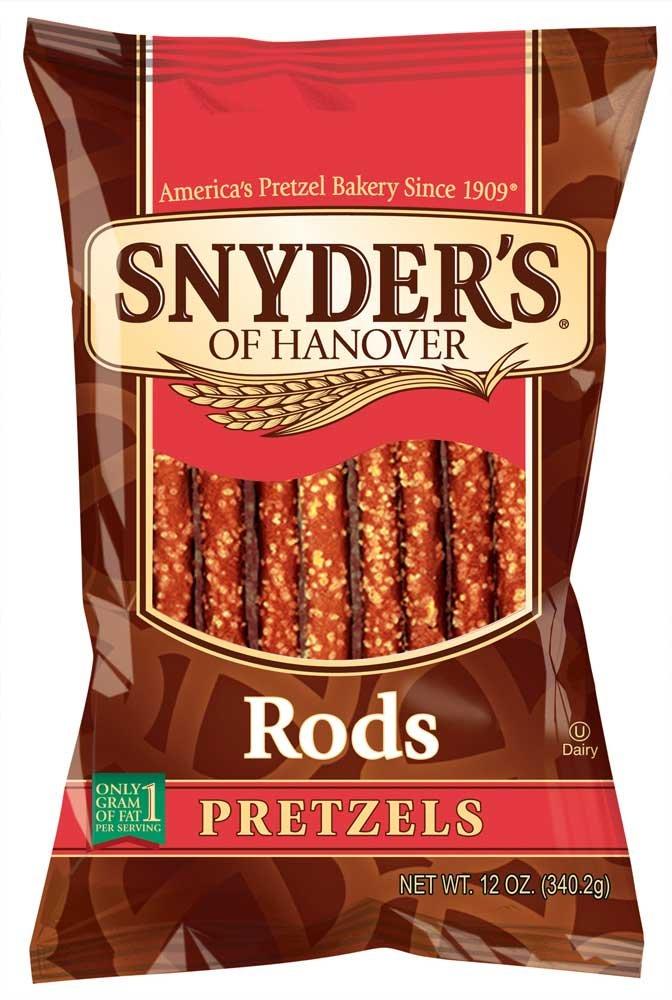 Snyders Of Hanover Pretzel Rod, 12 Ounce - 12 per case.