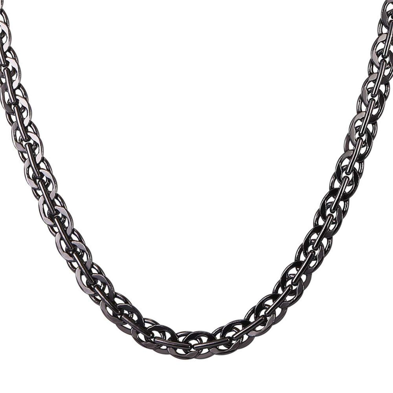 Zoe-clothes-store Gold//Silver//Black Color Chain Choker Necklace 6MM Rapper Hip Hop Chain for Women//Men Fashion Jewelry