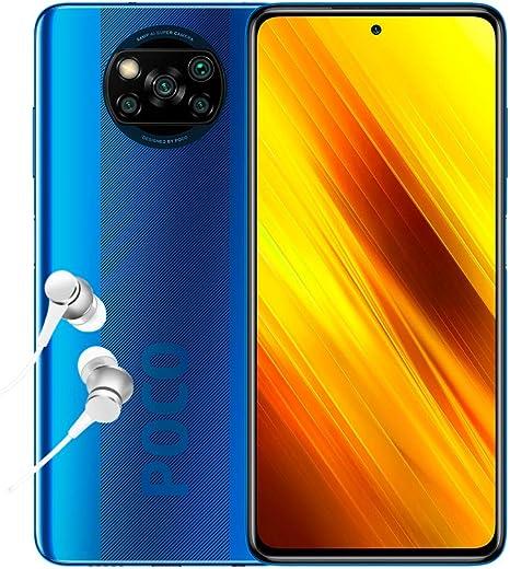 "Xiaomi Poco X3 NFC - Smartphone 6+64GB, 6,67"" FHD+ cámara Frontal con Punch-Hole, Snapdragon 732G, 64MP AI Quad-cámara, 5160mAh, Color Azul Cobalto (versión española): Amazon.es: Electrónica"