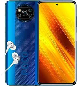 """Poco X3 NFC - Smartphone 6+128GB, 6,67"""" FHD+ cámara Frontal con Punch-Hole Display, Snapdragon 732G, 64 MP con IA, Quad-cámara, 5160 mAh, Color Azul Cobalto (versión española + 2 años garantía): Amazon.es: Electrónica"""