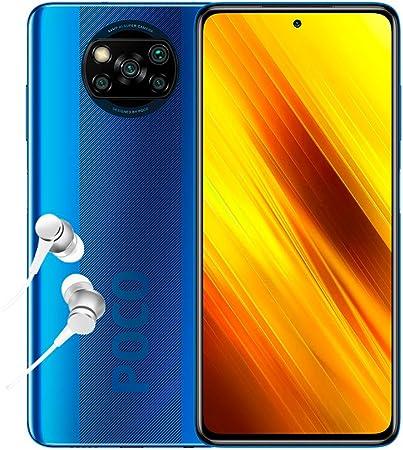 POCO X3 NFC - Smartphone 6+128GB, 6,67  FHD+ Punch-hole Display, Snapdragon 732G, 64MP AI Penta-Camera, 5160mAh, Cobalt Blue (Official UK Version + 2 Years Warranty)
