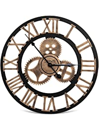 wall clock for office. Nosiva Industrial Wall Clock Handmade 3D Gear Large Rustic Decorative European Retro Vintage For Office