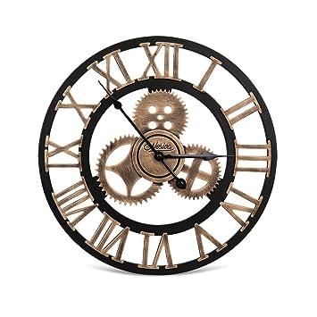 office clock wall. Nosiva Industrial Wall Clock Handmade 3D Gear Large Rustic Decorative European Retro Vintage Office W