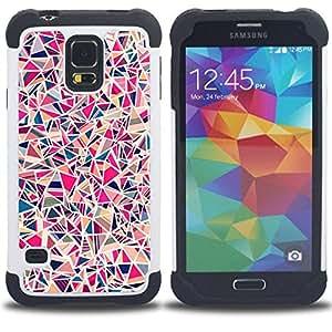 For Samsung Galaxy S5 I9600 G9009 G9008V - tile porcelain pink pattern Dual Layer caso de Shell HUELGA Impacto pata de cabra con im??genes gr??ficas Steam - Funny Shop -