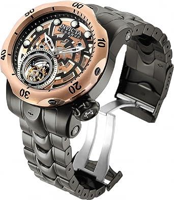 Invicta 16300 Reserva Venom Tourbillon 52 mm Pulsera de acero inoxidable reloj: Amazon.es: Relojes