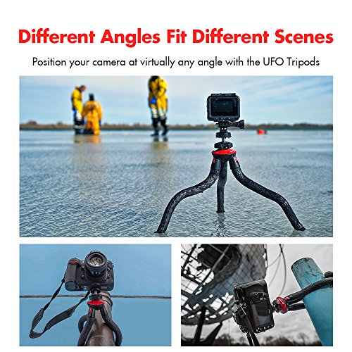 Tripods Phone, Fotopro 12' Flexible Tripod Bluetooth iPhone X 8 Plus,Samsung S9,Waterproof Anti-Crack Camera Tripod GoPro,360 Degree Spherical Camera Time-Lapse Photography