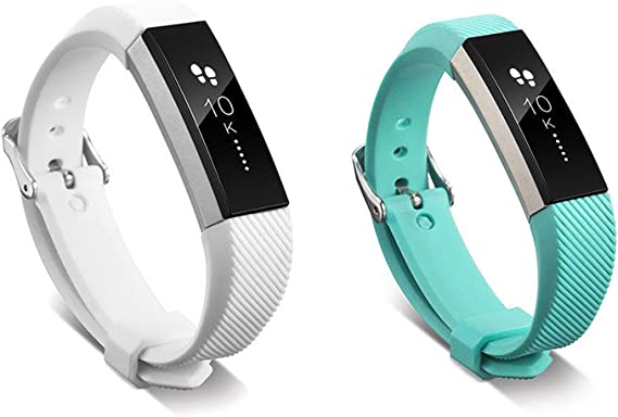 2 large LIGHTBLUE TEAL for FitBit FLEX Wristband//Bracelet With Clasp NO TRACKER