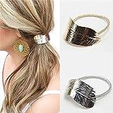 ERAWAN 2 x Fashion Women Lady Leaf Hair Band Rope Headband Elastic Ponytail Holder EW sakcharn