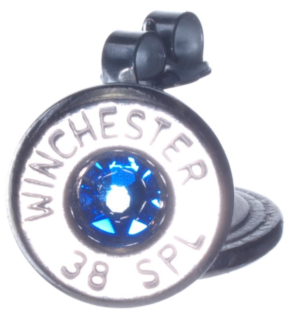 38 Special Palladium Plated Stud Earrings with Swarovski Crystals- Lt Blue (Winchester)