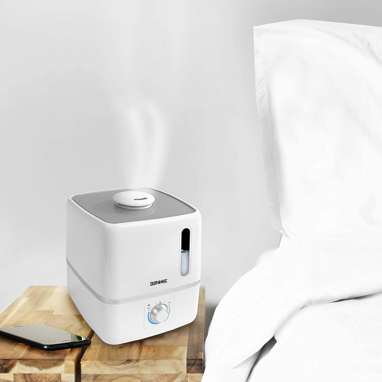 Duronic Humidifier HR3L | Cool Mist | Aromatherapy Essential Oil Diffuser | Large 3L Water Tank | Ultrasonic | Auto Shut Off Function | For Baby's