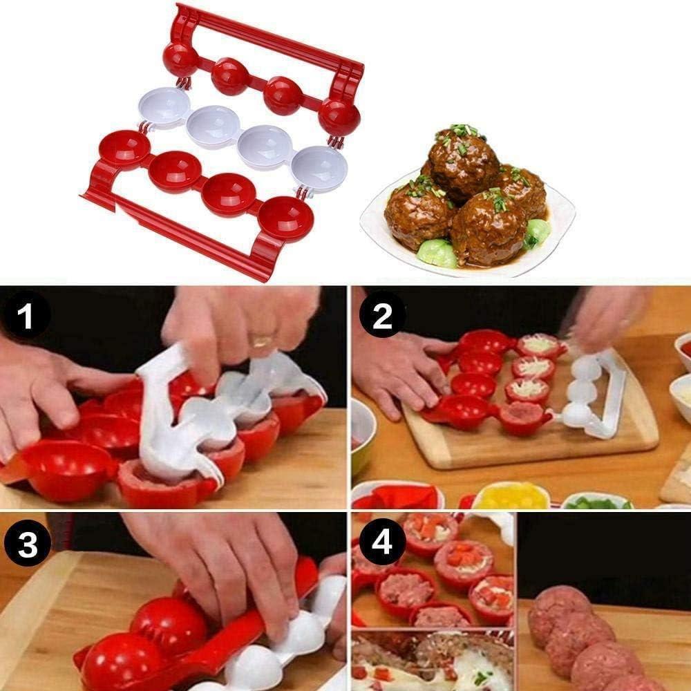 TTMOW Frikadellen Maker, 1 x Newbie-Fleischbällchenmacher, Fleisch- oder Fischballform für die Küche, Kochwerkzeug für hausgemachte Fleischbällchen 2020 Küchenwerkzeug A