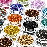 Modda Small Glass Seed Beads Kit - 2mm Tiny Round