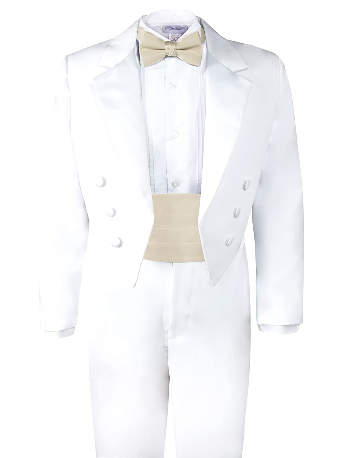 c6f09f87958 Spring Notion Boys  White Classic Tuxedo with Tail ERF008-SNS-008.WT ...