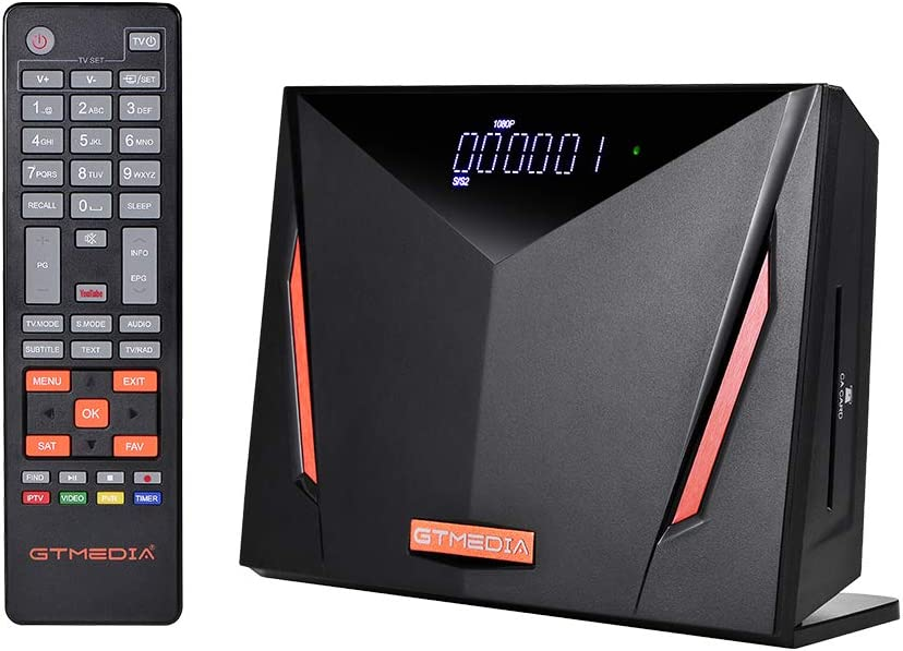 GTMEDIA V8 UHD 4K Ultra HD Digital Satellite Receiver, FTA H.265 TV Sat Decoder DVB-S/S2/S2X+T/T2/Cable/ISDB-T/ATSC-C, Built-in 2.4G WiFi, Supports CA Smart Card, Biss Auto-roll: MP3 Players & Accessories