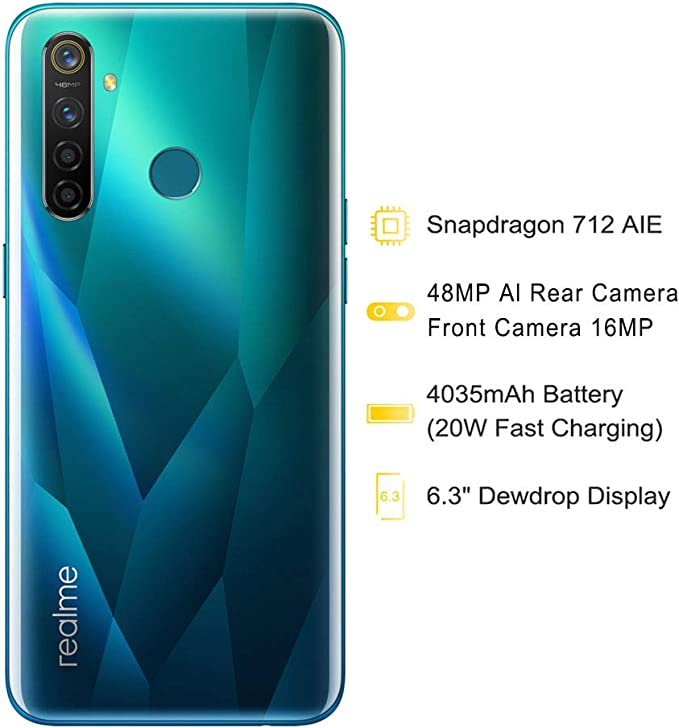 Realme 5 Pro - Smartphone 8GB RAM + 128GB ROM, Pantalla de 6.3 ...