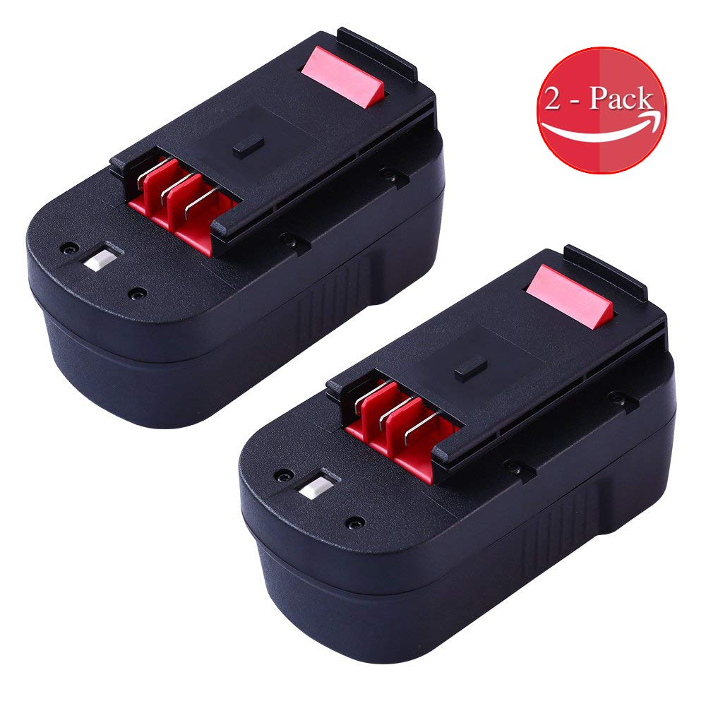 VINIDA 2 Pack HPB18 3.6Ah Replacement for Black and Decker Ni-Mh 18 Volt Battery HPB18-OPE 244760-00 A1718 FSB18 FEB180S A18 FS18FL Firestorm Cordless Power Tools by VINIDA