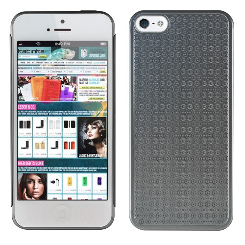 Katinkas Aluminum flower Case für Apple iPhone 5 silber