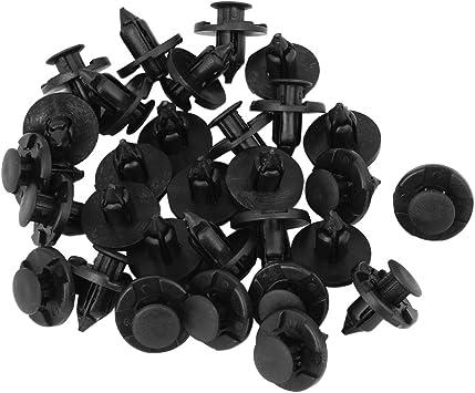 Niet Clip Sodial R 30 Stueck Kunststoff Teile 8 Mm Schwarzes Loch Bumper Niet Clip Verschluss Auto