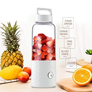 Vitamer Mini Personal Juicer cup,Portable USB Rechargeable Blender Smoothice(white)