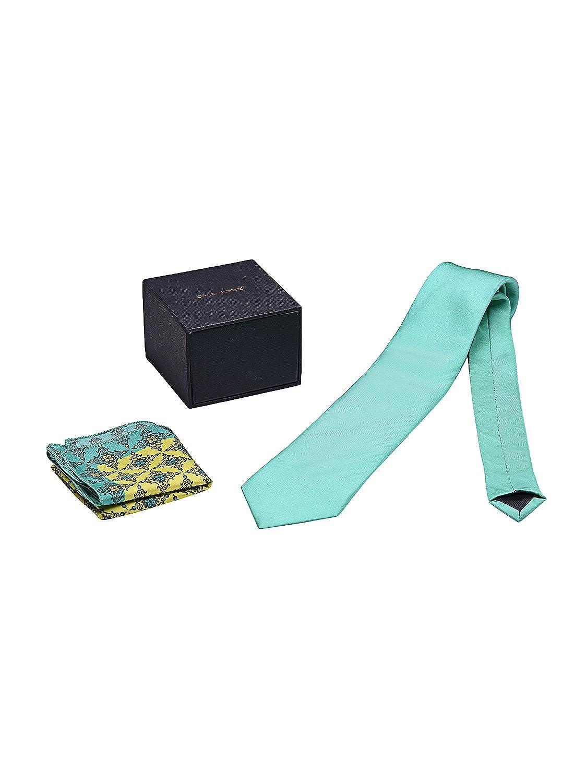 Chokore Sea Green Indian Design Tie /& Pocket Square set