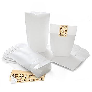 Blanco 25 weihnac htstüten bolsas de regalo bolsas de papel ...