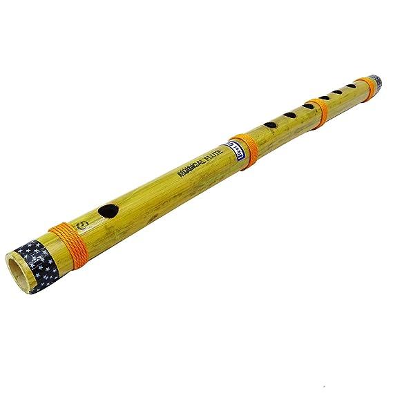 Indische Bambus Flute Dekorativen Hölzernen Bansuri Handgemachte Musikinstrument