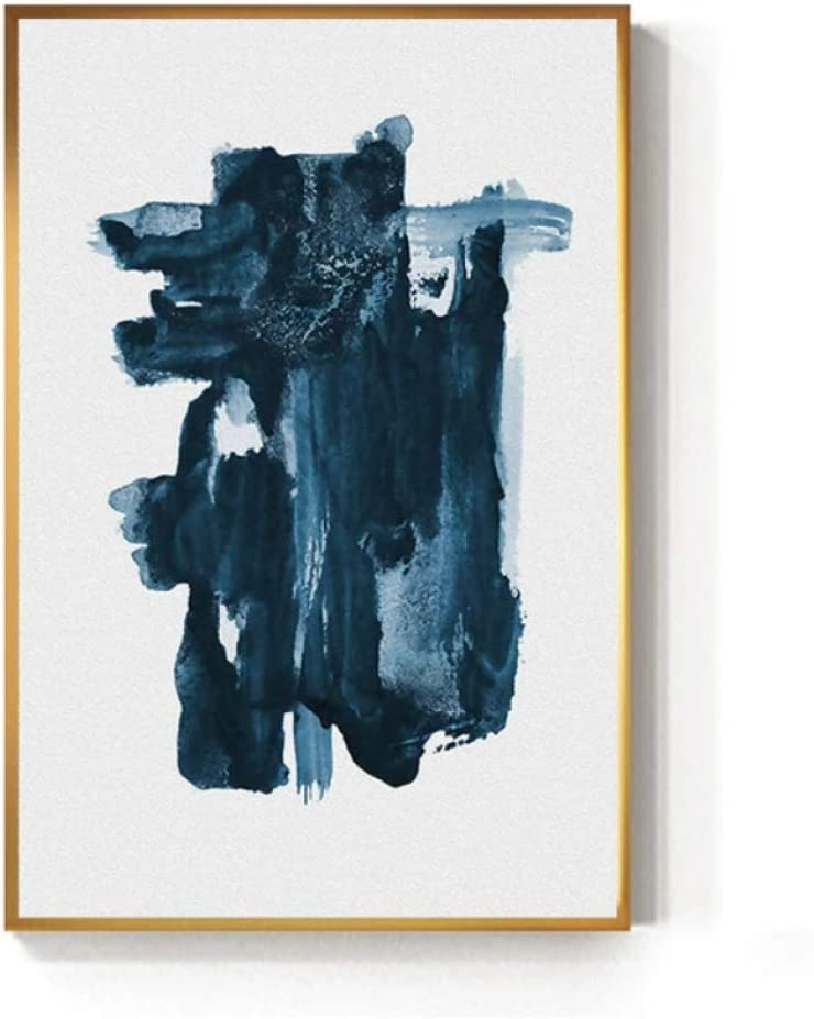 Arte Impresiones en lienzo Moda nórdica Estilo nórdico Decoración del hogar Cuadros modulares Minimalismo moderno Abstracto Azul Azul marino Pintura Impreso en lienzo Carteles impresos-70 * 105cm