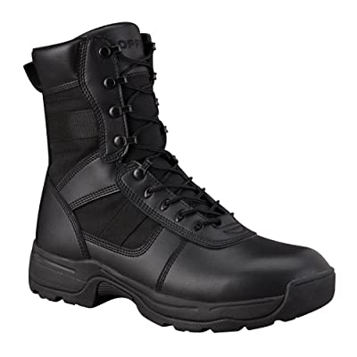 "Propper F4507 Series 100 8"" Side Zip Tactical Boot, Law Enforcement Boot, Black: Shoes"