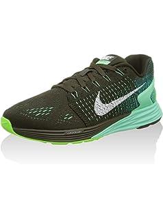 watch 600a1 29da5 Nike Women s Wmns Lunarglide 7, SEQUOIA WHITE-GREEN GLOW, ...